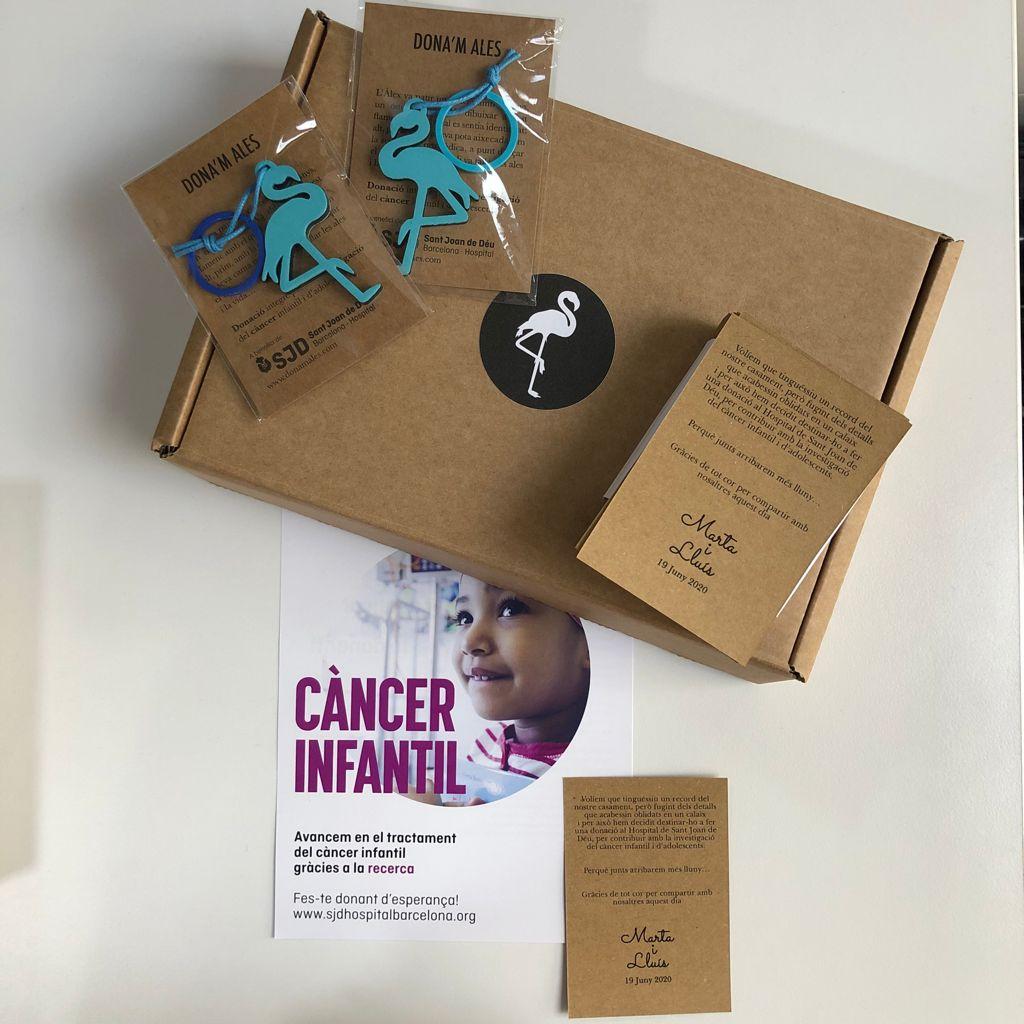 donación cancer boda